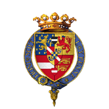 Coat of arms of William II, Prince of Orange, KG.png