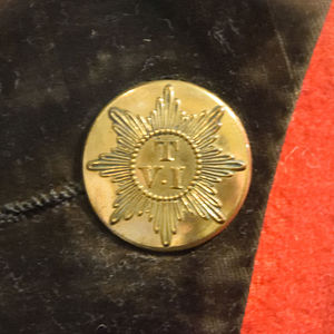 Militia and Volunteers of County Durham - Officer's coatee button of the Teesdale Volunteer Infantry c.1800's from the Durham Light Infantry museum