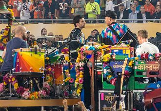 Super Bowl 50 halftime show - Coldplay performing the halftime show.