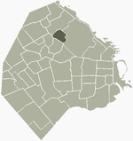 Location of Colegiales within Buenos Aires