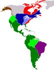 Continente repartido em zonas de colonização