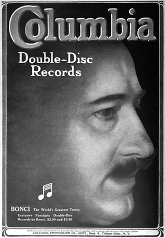 Alessandro Bonci - Bonci featured in a 1910 Columbia Phonograph advertisement.