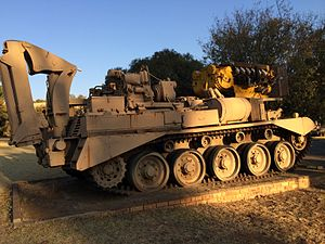 Comet (tank) - Comet modified as engineering vehicle by the South African Defence Force.