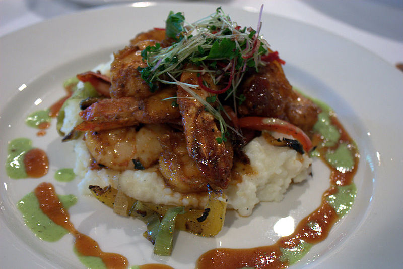 File:Commander's Palace shrimp & grits.jpg