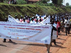 Uganda Local Governments Association - Community gathering at the ULGA Annual Meeting in June 2012 in Mityana District, Uganda.
