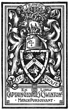 Fig. 741.—Bookplate of Captain George S. Swinton, March Pursuivant of Arms.