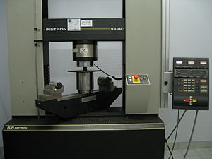 Compression (physics) - Compression test on a universal testing machine