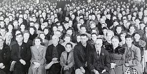 Antigonish Movement - The conference of the cooperative movement in Chéticamp, Nova Scotia (Canada)
