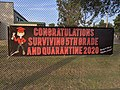 Congratulations to 5th grade pandemic grads banner, RL Stevenson Elementary, Burbank, California, USA (50011462407).jpg