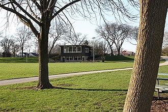 Parks of Milwaukee - Photo of the Cooper Park pavilion from SE