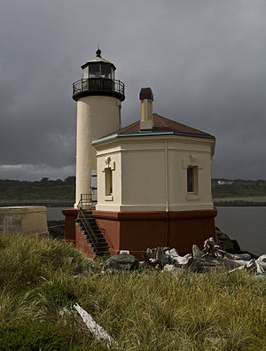 English: Coquille River Lighthouse near Bandon...