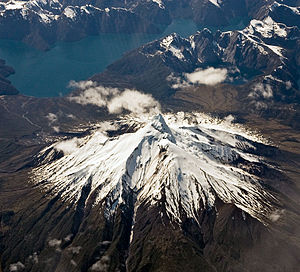 Corcovado Volcano - The volcano seen from the west on a commercial flight.