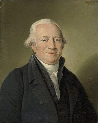 Cornelis Sebille Roos - Portrait by Adriaan de Lelie