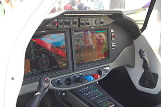 Cessna 400 - Cessna's mockup of the Corvalis TTx; featuring the Garmin G2000 avionics suite.