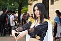 Cosplayer of Boa Hancock with heart hand gesture, One Piece at FF22 20130728.jpg