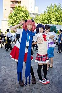 Cosplayers of Rikka Takanashi and Satone Shichimiya in FF24 20140727.jpg