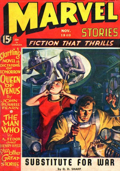 Cover of Marvel Stories November 1940