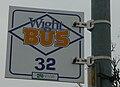 Cowes Crossfield Avenue bus stop flag.JPG