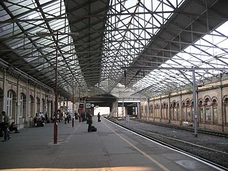 Crewe - Platform 12 at Crewe railway station, before the roof over it and the adjacent tracks were removed