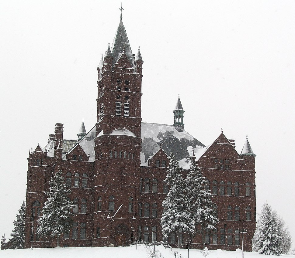 Crouse College in Snow