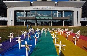 Manifestação contra Homofobia