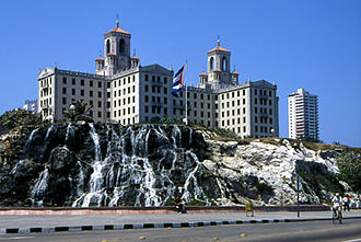Tourism in Cuba - Hotel Nacional in Havana. The hotel's guestlist includes Frank Sinatra, Winston Churchill and Ernest Hemingway, and also played host to the infamous Havana Conference in 1946