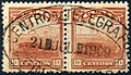 Cuban stamps with 1909 Central Telegraph cancel.JPG