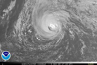Hurricane Epsilon - Hurricane Epsilon shortly after peak intensity on December 5