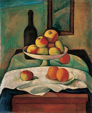 English: Still-life with Apples and Oranges