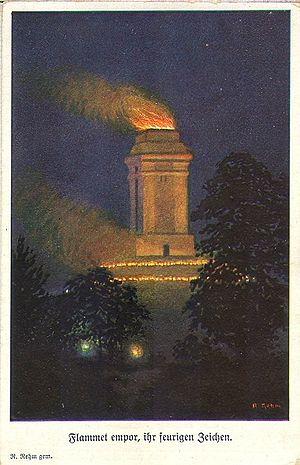 Bismarck tower - Illuminated Götterdämmerung tower