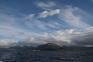Le Maire Strait - Isla de los Estados as seen from Le Maire Strait