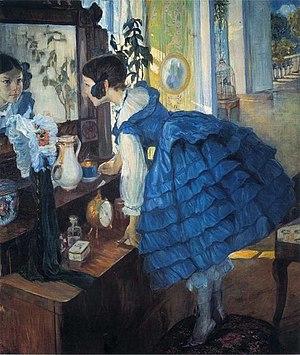 Olga Della-Vos-Kardovskaya - Olga Della-Vos-Kardovskaya Little Woman, 1910, The daughter of artist