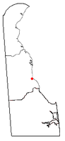 Location of Bowers, Delaware