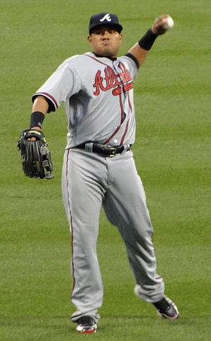 Melky Cabrera - Cabrera playing for the Atlanta Braves in 2010
