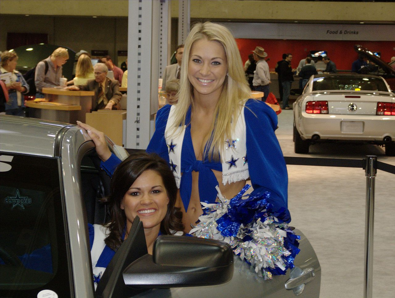FileDallas Cheerleaders Car Showjpg Wikimedia Commons - Dallas car show