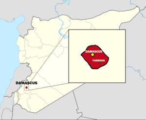 Damascus Governorate on Syria Map with Governo...