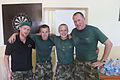 Damien Duff and his brother Sergeant Gerry Duff visit the troops of the Irish 106 Battalion in Tibnine Lebanon (7514308992) (2).jpg
