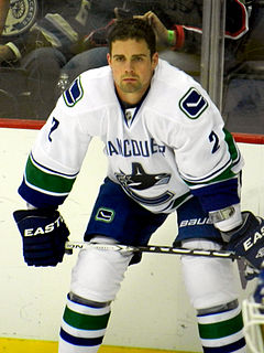 Dan Hamhuis Canadian ice hockey player