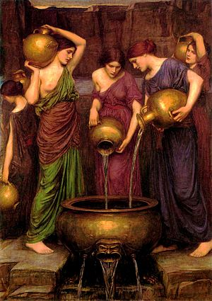 Danaus - The Danaides, Oil by John William Waterhouse 1903