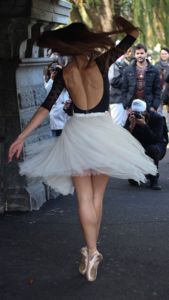 Ballet dancer - Ballerina posing outside for photographs