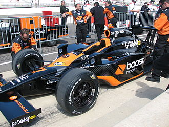 Danica Patrick - Patrick's car at the Indianapolis Motor Speedway in 2009