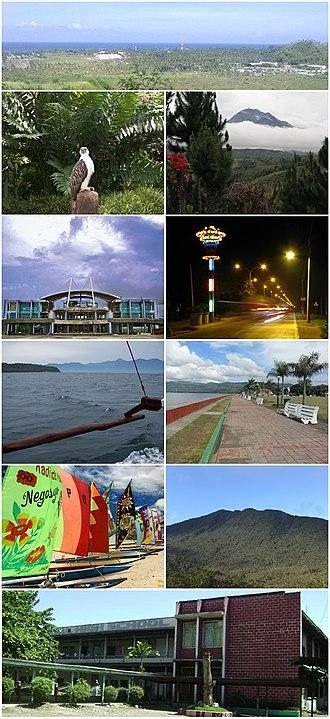 Davao Region - From top, left to right: Malita, Philippine Eagle Center, Mount Apo, Tagum City, Panabo City, Davao Gulf, Mati City, Island Garden City of Samal, Mount Hamiguitan, Digos City
