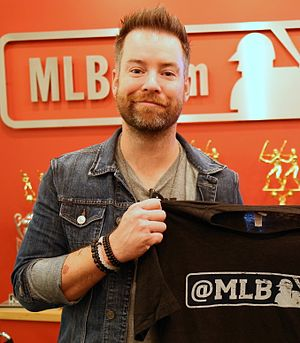 David Cook (singer) - David Cook at MLB.com in New York in September 2015