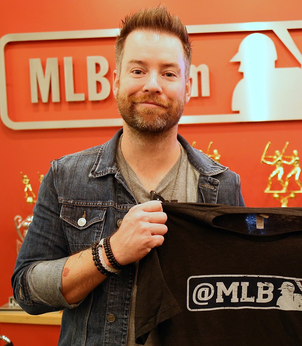 David Cook visits MLB (cropped)