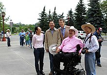 Kent Hehr and David Swann at the Calgary Stampede