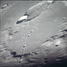La chaîne de cratères Catena Davy vue par Apollo 12 - photo NASA.