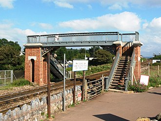Dawlish Warren railway station - The first footbridge, built in 1873