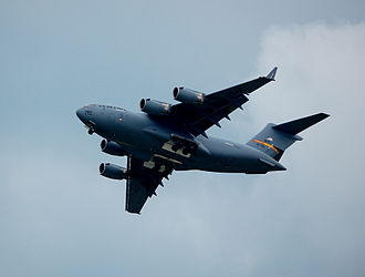 Vectren Dayton Air Show - C-17 fly-over at 2009 Dayton Air Show