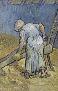 De boerin die vlas kneust (naar Millet) - s0043V1962 - Van Gogh Museum.jpg
