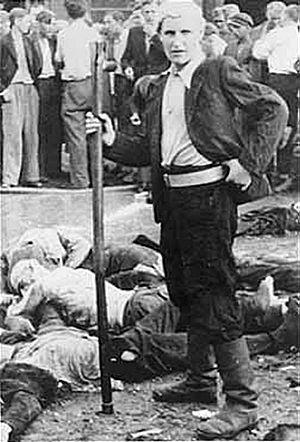 Kaunas pogrom - Image: Dead dealer Lietukis Garage Kovno
